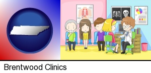 Brentwood, Tennessee - a clinic, showing a doctor and four patients