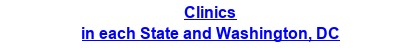 Clinics & Medical Centers in each State and Washington, DC